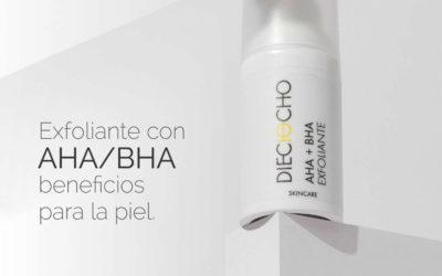 Exfoliante con AHA/BHA beneficios para la piel